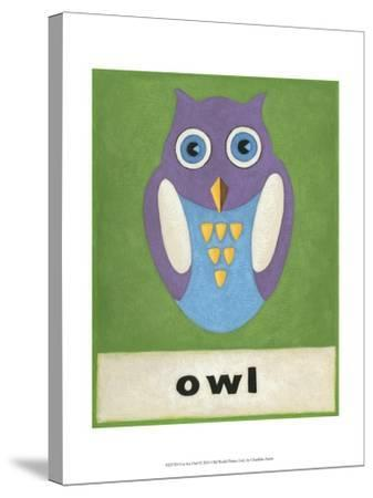 O is for Owl-Chariklia Zarris-Stretched Canvas Print