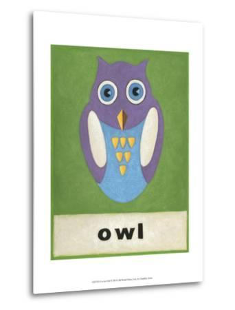 O is for Owl-Chariklia Zarris-Metal Print