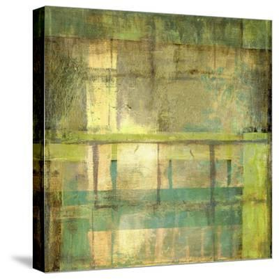 Non-Embellish Guilded Turquoise I-Jennifer Goldberger-Stretched Canvas Print