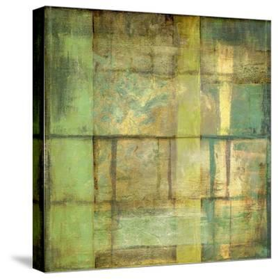 Non-Embellish Guilded Turquoise II-Jennifer Goldberger-Stretched Canvas Print