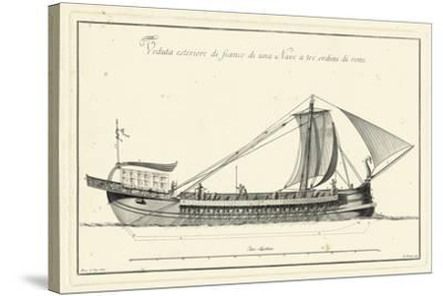 Veduta di Palmi Napoletani II-Pietro La Vega-Stretched Canvas Print