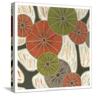 Morning Glories I-Karen Deans-Stretched Canvas Print