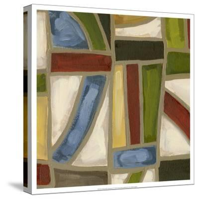 Stained Glass Abstraction IV-Karen Deans-Stretched Canvas Print