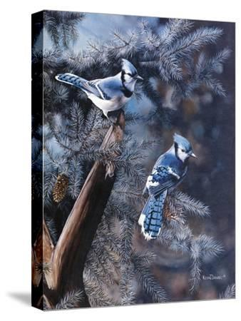 A Touch of Blue-Kevin Daniel-Stretched Canvas Print