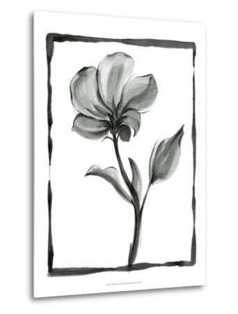 Non-embellished Sumi-e Floral I-Ethan Harper-Metal Print