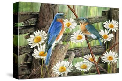 Serenade in Blue-Al Dornish-Stretched Canvas Print