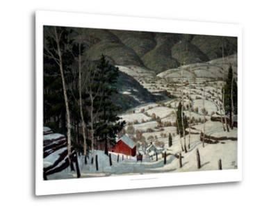 Winter-Walter King Stone-Metal Print