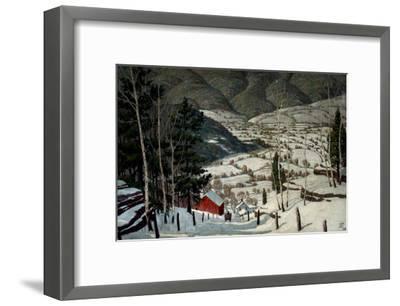 Winter-Walter King Stone-Framed Art Print
