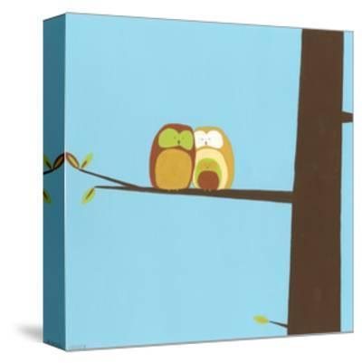Treetop Owls IV-Erica J^ Vess-Stretched Canvas Print