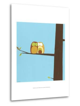 Treetop Owls IV-Erica J^ Vess-Metal Print