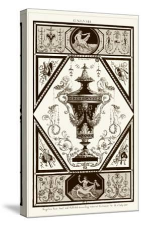 Sepia Pergolesi Urn I-Michel Pergolesi-Stretched Canvas Print