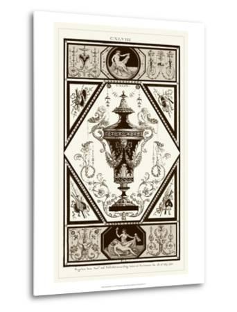 Sepia Pergolesi Urn I-Michel Pergolesi-Metal Print