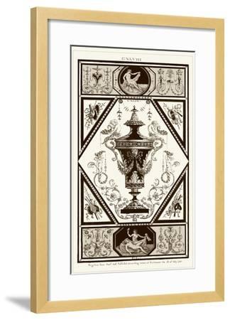 Sepia Pergolesi Urn I-Michel Pergolesi-Framed Art Print