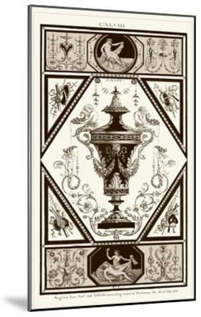 Sepia Pergolesi Urn I-Michel Pergolesi-Mounted Art Print