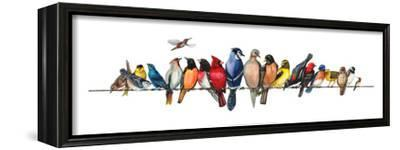 Large Bird Menagerie-Wendy Russell-Framed Stretched Canvas Print