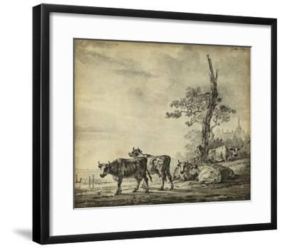 Pastoral Etching I--Framed Art Print