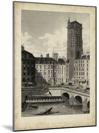 Place du Chatelet-A^ Pugin-Mounted Art Print