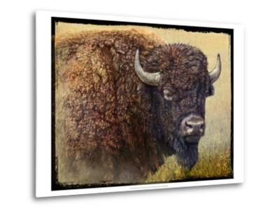 Bison Portrait I-Chris Vest-Metal Print
