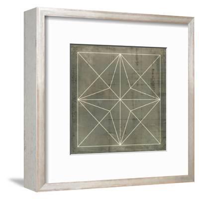 Geometric Blueprint I--Framed Art Print