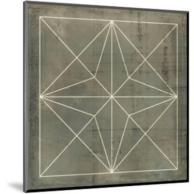 Geometric Blueprint I--Mounted Art Print