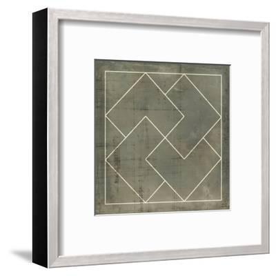 Geometric Blueprint III--Framed Art Print