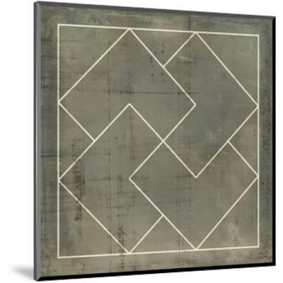 Geometric Blueprint III--Mounted Art Print