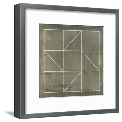 Geometric Blueprint IV--Framed Art Print
