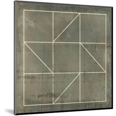 Geometric Blueprint IV--Mounted Art Print