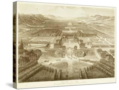 Bird's Eye View of Versailles--Stretched Canvas Print