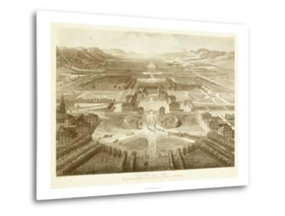 Bird's Eye View of Versailles--Metal Print