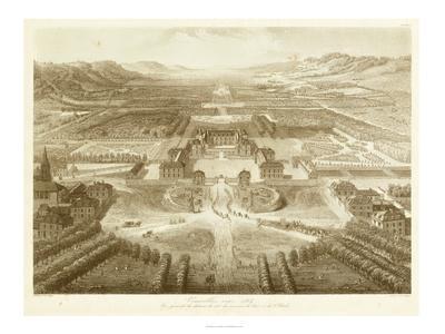 Bird's Eye View of Versailles--Framed Art Print
