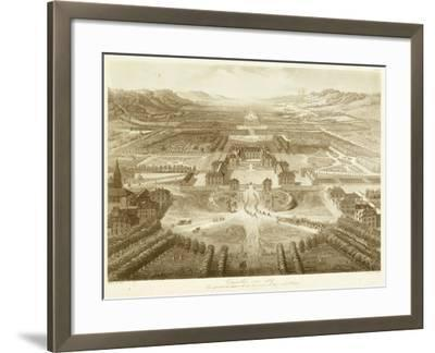 Bird's Eye View of Versailles--Framed Art Print