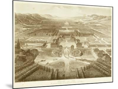 Bird's Eye View of Versailles--Mounted Art Print