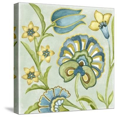 Decorative Golden Bloom II-Sydney Wright-Stretched Canvas Print