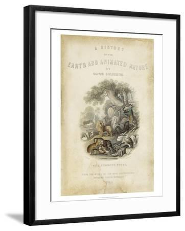 Earth and Animated Nature--Framed Art Print