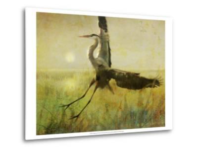 Foggy Heron II-Chris Vest-Metal Print
