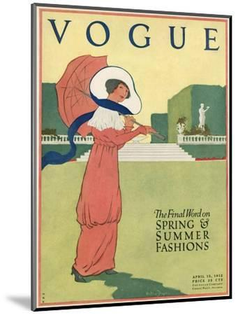 Vogue Cover - April 1912-Helen Dryden-Mounted Premium Giclee Print