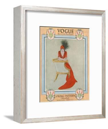 Vogue Cover - March 1912-Arthur Finley-Framed Premium Giclee Print