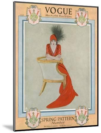 Vogue Cover - March 1912-Arthur Finley-Mounted Premium Giclee Print