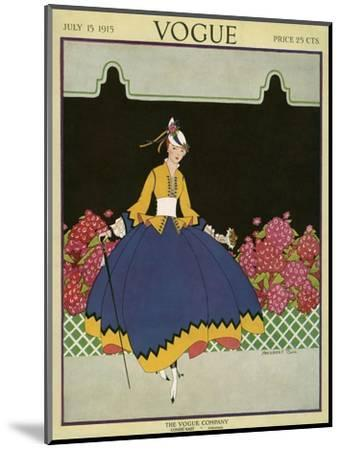 Vogue Cover - July 1915-Margaret B. Bull-Mounted Premium Giclee Print