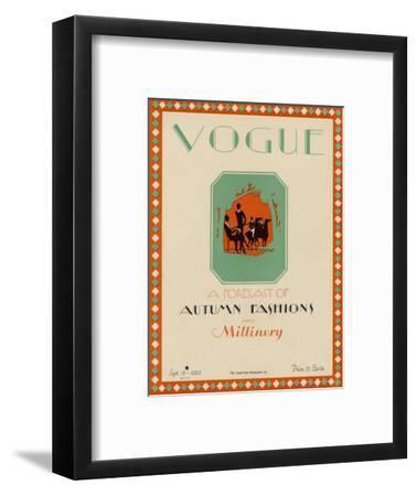 Vogue Cover - September 1925-Libiszewski-Framed Premium Giclee Print