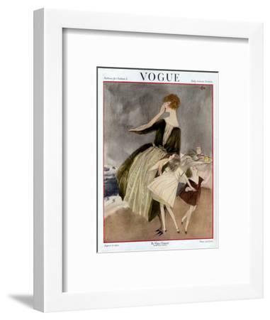 Vogue Cover - August 1922-Henry R. Sutter-Framed Premium Giclee Print