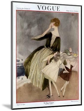 Vogue Cover - August 1922-Henry R. Sutter-Mounted Premium Giclee Print