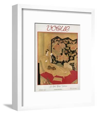 Vogue Cover - November 1923-Eduard Buk Ulreich-Framed Premium Giclee Print