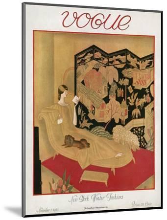 Vogue Cover - November 1923-Eduard Buk Ulreich-Mounted Premium Giclee Print