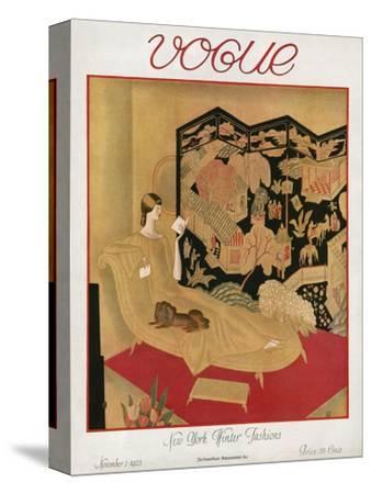 Vogue Cover - November 1923-Eduard Buk Ulreich-Stretched Canvas Print