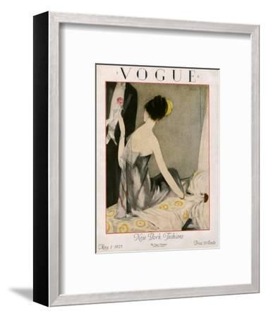 Vogue Cover - May 1923-Henry R. Sutter-Framed Premium Giclee Print