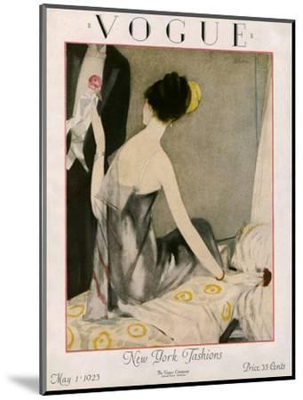 Vogue Cover - May 1923-Henry R. Sutter-Mounted Premium Giclee Print