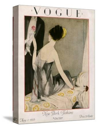 Vogue Cover - May 1923-Henry R. Sutter-Stretched Canvas Print