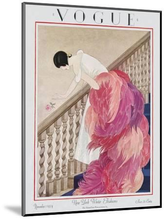Vogue Cover - November 1924-George Wolfe Plank-Mounted Premium Giclee Print